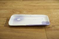 みたさとし 吹付紫長皿(ツノダシ)