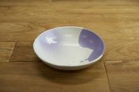 みたさとし 吹付紫丸皿(マンタ) &豆皿セット