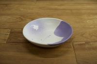 みたさとし 吹付紫丸皿(ツノダシ)