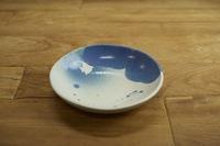 みたさとし 吹付青丸皿(ツノダシ)