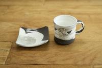 菊地元野 泡マグカップ&取皿セット