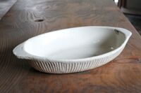 丹水窯 カレー&グラタン皿(ミルク)