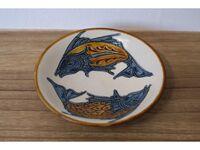 陶眞窯 7寸皿 魚紋