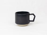 美濃焼 CHIPS stack mug. MAT black