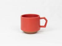 美濃焼 CHIPS stack mug. MAT red