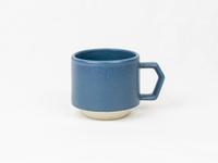 美濃焼 CHIPS stack mug. MAT sand-blue