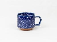 美濃焼 CHIPS stack mug. SPLASH navy-white