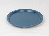 美濃焼 CHIPS plate. MAT sand-blue