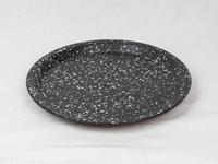 美濃焼 CHIPS plate. SPLASH black-white