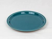 美濃焼 CHIPS plate. SOLID COLOR d.green