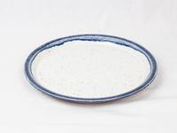 美濃焼 CHIPS plate. PREMIUM white-navy drop