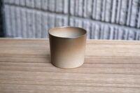 出製陶 フリーカップショート 茶グラデーション