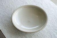 藤陶 白釉 8寸 浅鉢