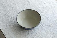 藤陶 青釉 ドットそり鉢