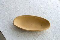 藤陶 伊羅保 舟形鉢