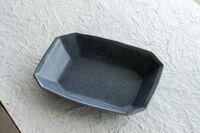 藤陶 グレー 八角深鉢 小