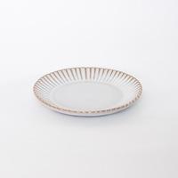 輪花皿6寸 ホワイト