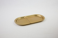 Gold oval tray