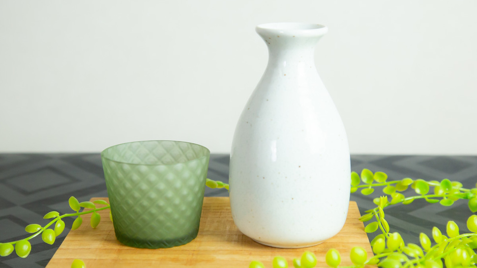 green-glass-with