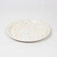 CHIPS plate. SPLASH white-orange