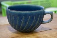 石丸陶芸 青ルリ スープカップ