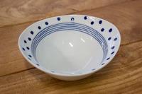 石丸陶芸 ドットライン 楕円小鉢 小