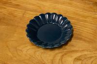 キクワリ(紺)15cm丸皿
