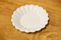 キクワリ(白)19cm丸皿