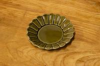 キクワリ(カーキ)15cm丸皿