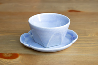 松光山 面取碗皿水色