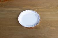 松光山 輪花皿5寸ホワイト