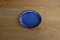 松光山 輪花皿5寸ブルー