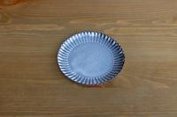 松光山 輪花皿5寸グレー
