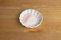 松光山 菊皿(小) ホワイト