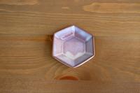 松光山 六角豆皿紫