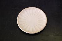 天龍窯 しのぎ小皿ホワイト