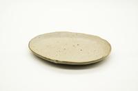 クラフト石川 16cm楕円小皿 灰