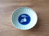 ヤマト陶磁器 濃なす 菊型取皿