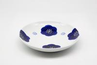 マルシゲ陶器 染付梅紋 丸5寸皿