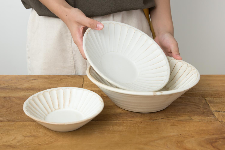 家族とにぎやかな食卓を和食器で飾ろう。kinariしのぎ朝顔鉢