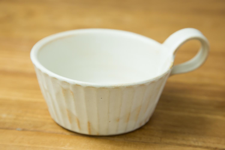 温かみのあるおしゃれな食器Kinariしのぎスープカップ