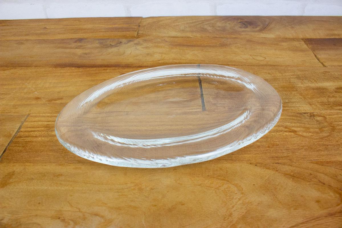 料理をあざやかで新鮮に魅せる スガハラのガラスのお皿 オーバル皿 S