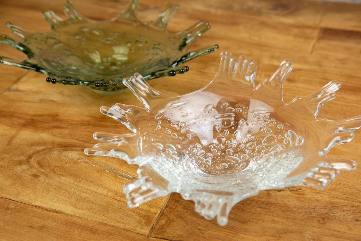 水が弾けるような躍動感 料理の存在がきわ立つガラスのうつわsghr スガハラ sirena