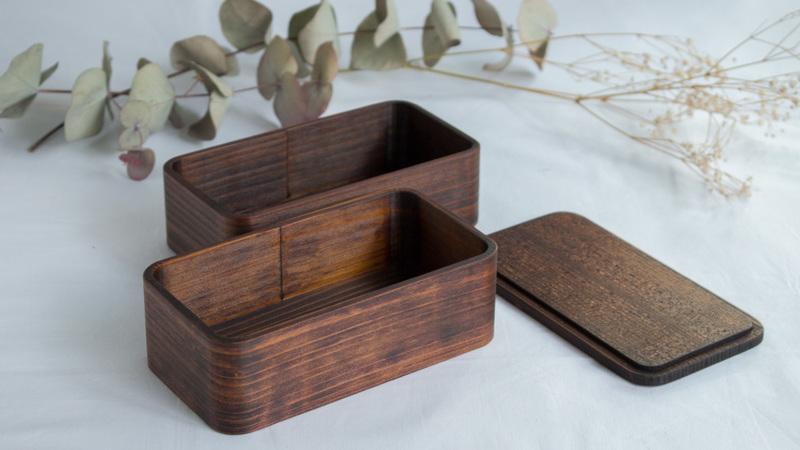 うるしの弁当箱 (二段)引き
