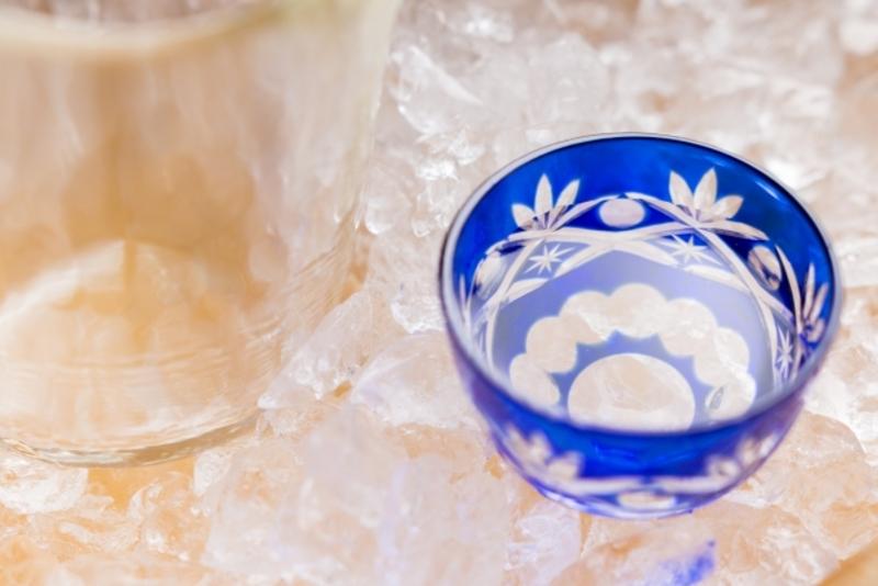冷やされた日本酒