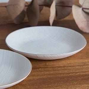 ceramic mimic fabric 小皿