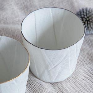 Ceramic mimic fabric グラス