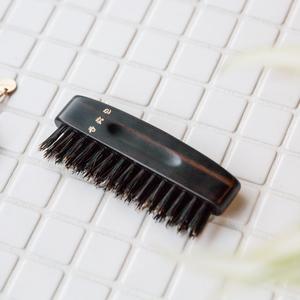 ヘアーブラシ(携帯用)猪毛と豚毛の混毛